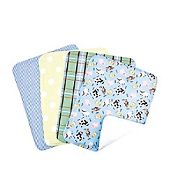 Trend Lab Baby Barnyard 4-pack Burp Cloth Set