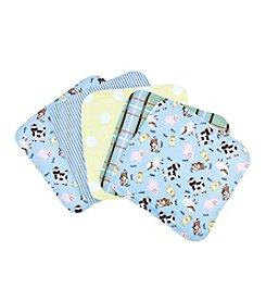 Trend Lab Baby Barnyard 5-pack Wash Cloth Set