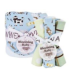 Trend Lab Baby Barnyard Hooded Towel & Wash Cloth Set