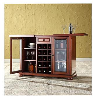 Crosley Furniture Alexandria Sliding Top Bar Cabinet