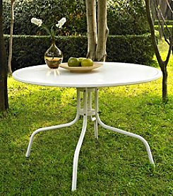 Crosley Furniture Griffith White Metal Dining Table