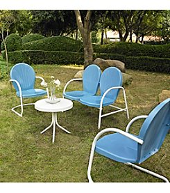 Crosley Furniture Griffith Outdoor Loveseat, 2 Chairs & Table Set