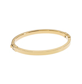 Michael Kors® Goldtone Skinny Hinge Bangle
