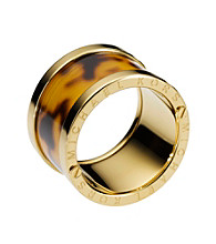 Michael Kors® Tortoise/Goldtone Design Barrel Ring