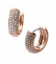 Michael Kors® Rose Goldtone Huggie Hoop Earrings