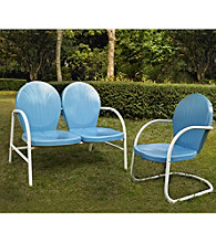 Crosley Furniture Griffith Metal Outdoor Loveseat & Chair Set