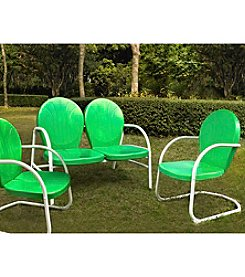 Crosley Furniture Griffith Outdoor Loveseat & Set of 2 Chairs