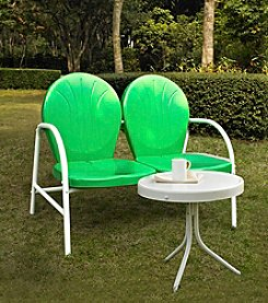 Crosley Furniture Griffith Metal Outdoor Loveseat & Table Set