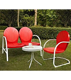 Crosley Furniture Griffith Outdoor Loveseat, Chair & Table Set