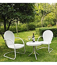 Crosley Furniture Griffith Outdoor Table and Set of 2 Chairs