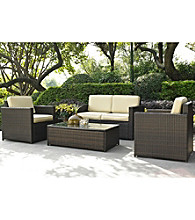 Crosley Furniture Palm Harbor 4-pc. Outdoor Wicker Seating Set