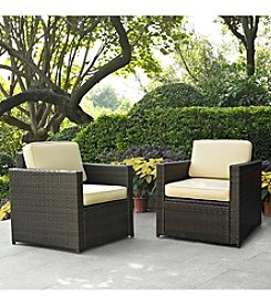 Crosley Furniture Palm Harbor Set of 2 Outdoor Wicker Chairs