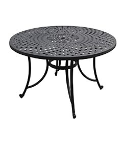 "Crosley Furniture Sedona 48"" Charcoal Black Cast Aluminum Dining Table"