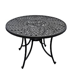 "Crosley Furniture Sedona 42"" Charcoal Black Cast Aluminum Dining Table"