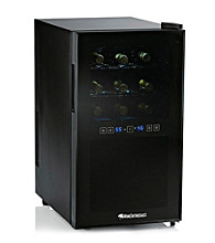 Wine Enthusiast Silent 18-Bottle Dual-Zone Touchscreen Wine Refrigerator