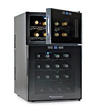 Wine Enthusiast Silent 24-Bottle Dual-Zone Touchscreen Wine Refrigerator