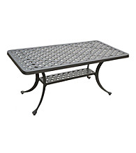 Crosley Furniture Sedona Cast Aluminum Rectangular Cocktail Table