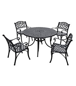 "Crosley Furniture Sedona 48"" 5-pc. Cast Aluminum Outdoor Dining Set with Arm Chairs"