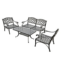 Crosley Furniture Sedona 4-pc.Cast Aluminum Outdoor Conversation Seating Set