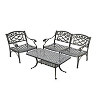 Crosley Furniture Sedona Cast Aluminum Loveseat, Club Chair & Cocktail Table Set