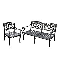 Crosley Furniture Sedona Cast Aluminum Outdoor Loveseat & Club Chair Set