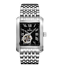 Bulova® Men's Black Dial Mechanical Watch