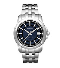 Bulova® Men's Precisionist Blue Dial and Stainless Steel Watch