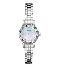 Bulova® Women's Diamond Dial Mother of Pearl Watch