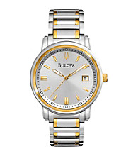 Bulova® Men's Two-Tone Stainless Steel Bracelet Watch