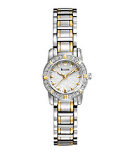 Bulova® Women's Diamond Two-Tone Stainless Steel Watch