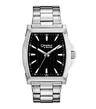 Caravelle® by Bulova Men's Black Dial Stainless Steel Bracelet Watch
