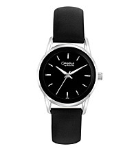 Caravelle® by Bulova Women's Black Leather Strap Watch