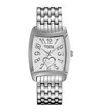 Caravelle® by Bulova Women's Silvertone and White Heart Motif Watch
