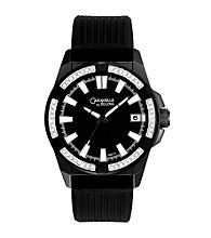 Caravelle® By Bulova Men's Black Crystal Watch