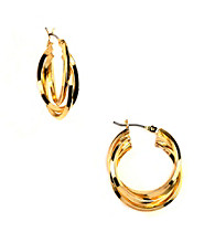 Napier® Small Twisted Goldtone Hoop Earrings