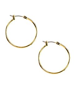 Napier® Goldtone Medium Hoop Earrings