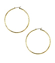 Napier® Goldtone Large Hoop Earrings