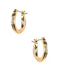 Napier® Small Goldtone Hoop Earrings