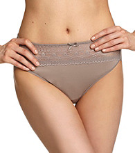 Naomi & Nicole® Lace Wonderful Edge Hi-Cut Briefs - Cinder