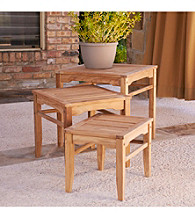 Holly & Martin™ Howland 3-pc. Teak Nesting Table Set