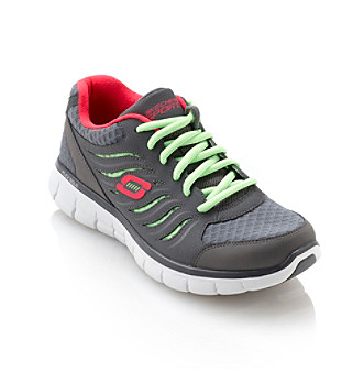 "Skechers® Sport ""Synergy"" Athletic Shoe - Charcoal/Green"