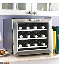 Wine Enthusiast Stainless Silent 12-Bottle Wine Refrigerator