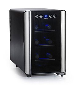 Wine Enthusiast Silent 6-Bottle Touchscreen Wine Refrigerator