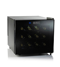 Wine Enthusiast Silent 12-Bottle Touchscreen Wine Refrigerator