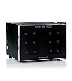 Wine Enthusiast Silent 12-Bottle Dual-Zone Touchscreen Wine Refrigerator