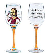 Wine Enthusiast I Drink Party Girl Wine Glass