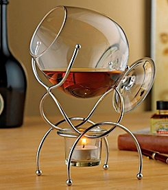 Wine Enthusiast Brandy Warmer 4-Piece Gift Set