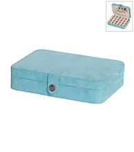 Mele & Co Maria Plush Fabric Jewelry Box - Aqua