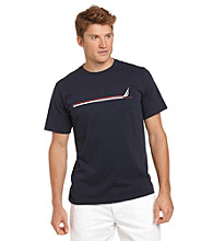 Nautica® Men's Navy Short Sleeve Graphic Tee