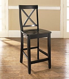 Crosley Furniture Set of 2 X-Back Bar Stools